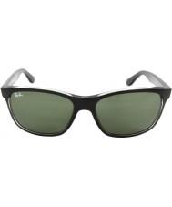 RayBan Rb4181 57 highstreet top matná černá na trasp šedé 6130 sluneční brýle