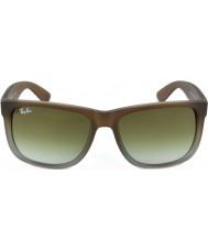 RayBan Rb4165 51 Justin gumový hnědé na šedou 854-7z sluneční brýle
