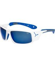 Cebe Ice 8000 lesklé bílé modré sluneční brýle