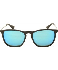 RayBan Rb4187 54 Chris černá 601-55 modré zrcadlové sluneční brýle