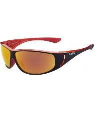 Bolle Highwood lesklé černé červené polarizované sluneční brýle TNS požární