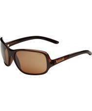 Bolle Kassia lesklé čokoládové polarizované sluneční brýle pískovcové pistole
