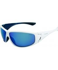 Bolle Highwood lesklé bílé modré polarizované offshore modré sluneční brýle