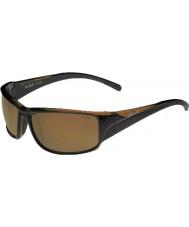 Bolle Keelback lesklé hnědé polarizované sluneční brýle AG-14