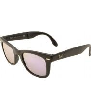 RayBan Rb4105 50 skládací Poutník matná černá 601s4k šeřík zrcadlové sluneční brýle