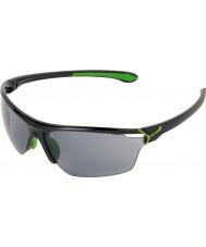 Cebe Cinetik velké lesklé černé zelené sluneční brýle