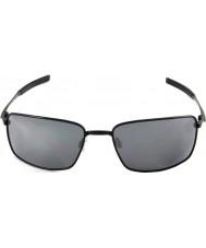 Oakley Oo4075-01 náměstí drátěného lesklé černé - černá iridiové brýle
