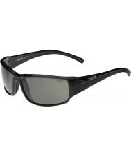 Bolle Keelback lesklý černý modulátor polarizované sluneční brýle šedé