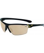 Cebe Cinetik velké lesklé černé žluté sluneční brýle
