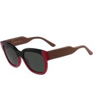 Marni Dámské me604s černé a červené sluneční brýle