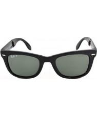 RayBan Rb4105 50 skládací Wayfarer černé 601-58 polarizované sluneční brýle
