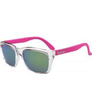 Bolle 527 retro kolekce lesklý krystal růžová hnědá smaragd sluneční brýle