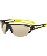 Cebe S-track velké lesklé černé sluneční brýle