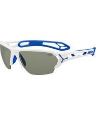 Cebe S-track velké lesklé bílé sluneční brýle