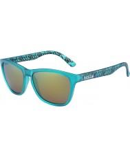 Bolle 437 retro kolekce matt tyrkysově polarizované sluneční brýle hnědé smaragdové