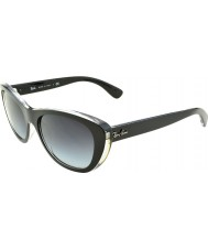 RayBan Rb4227 55 highstreet top matná černá na transparentní 60528g gradientu sluneční brýle