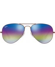 RayBan Rb3025 58 Aviator velké kovové tmavá bronz 9019c2 sluneční brýle