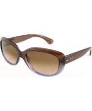 RayBan Rb4101 58 Jackie ohh hnědá gradientní šeřík 860-51 sluneční brýle