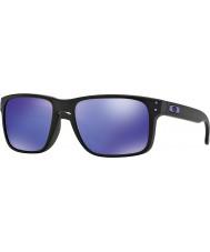 Oakley Oo9102-26 Holbrook Julian Wilson matná černá - fialová iridium sluneční brýle