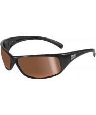 Bolle Recoil lesklé černé polarizované vnitrozemské zlaté sluneční brýle