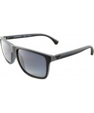 Emporio Armani Ea4033 56 Moderní černé šedé gumy 5229t3 polarizované sluneční brýle