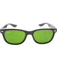 RayBan Junior Rj9052s 47 nových Poutník lesklé černé brýle 100-2