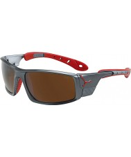 Cebe Ice 8000 tmavě šedá červená sluneční brýle