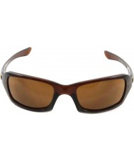 Oakley Oo9238-07 pětky čtvercový leštěný rootbeer - tmavý bronz sluneční brýle