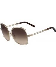 Chloe Dámská ce129s Rose Gold a transperent hnědé sluneční brýle