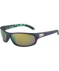 Bolle Anaconda matná modrá zelená polarizované sluneční brýle hnědé smaragdové