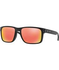 Oakley Oo9102-51 Holbrook matná černá - Ruby iridium polarizované sluneční brýle