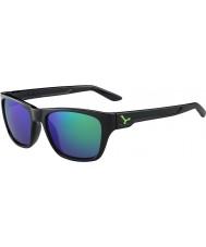 Cebe Hacker lesklá černá zelená 1500 šedá záblesk zrcadlo zelená sluneční brýle