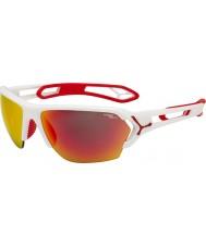 Cebe S-track velké matné bílé červené sluneční brýle