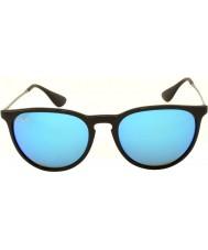 RayBan Rb4171 54 Erika černá 601-55 modré zrcadlové sluneční brýle