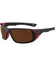 Cebe Jorasses velké matná černá červená 2000 hnědá blesku zrcadlové sluneční brýle