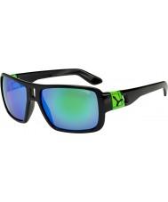 Cebe Lam lesklé černé zelené sluneční brýle