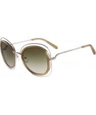 Chloe Dámské ce123s Carlina lesklé zlaté sluneční brýle