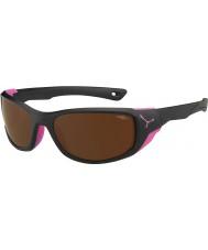 Cebe Jorasses střední matná černá růžová 2000 hnědá blesku zrcadlové sluneční brýle