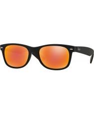 RayBan Rb2132 52 nových pocestný gumové černé 622-69 červené zrcadlové sluneční brýle