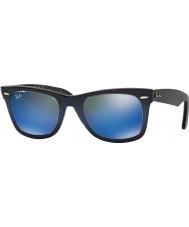 RayBan Rb2140 50 originál pocestný top modrou přechodem na světle modré 120368 modré zrcadlové sluneční brýle
