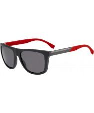 HUGO BOSS Pánská šéf 0834-S TUV 3h tmavě šedá červená polarizované sluneční brýle