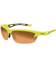 Bolle Bolt neon žlutý modulátor jantarové sluneční brýle