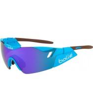 Bolle 6. smysl AG2R lesklé hnědé modrofialové sluneční brýle