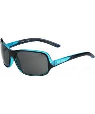 Bolle Kassia lesklá černá modrá polarizované sluneční brýle TNS