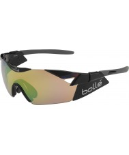 Bolle 6th Sense s lesklým černým modulátor hnědá smaragd sluneční brýle