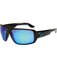 Cebe Maori lesklé černé modré sluneční brýle