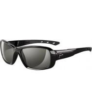 Cebe S-kiss lesklé černé sluneční brýle