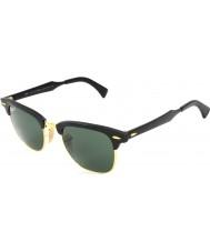 RayBan Rb3507 49 clubmaster hliníková černá arista 136-N5 polarizované sluneční brýle