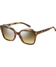 Marc Jacobs Dámy Marc 106-S N36 gg havana stříbrné zrcadlové sluneční brýle