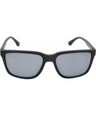 Emporio Armani Ea4047 56 moderních černá pryž 506.381 polarizované sluneční brýle